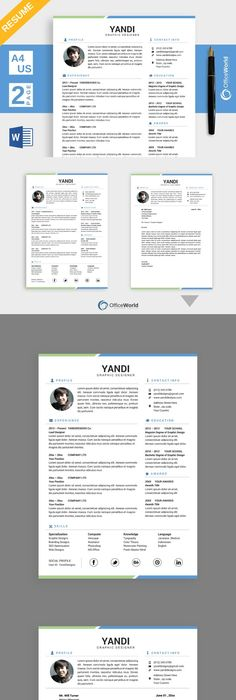 Curriculum Vitae Template - CV Template - Cover Letter - MS Word Mac