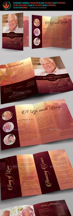 Funeral Bulletins Templates Outdoor Theme  Flight Preprinted