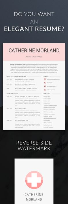 Nurse resume template for modern professionals  Suitable as medical     Nurse resume template for modern professionals  Suitable as medical resume  for nurses  CNA