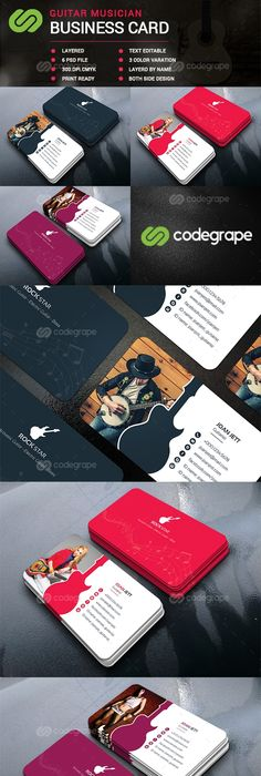 Free download multipurpose business card template freebies free this is a guitar musician business card template this template download contains a 300 dpi reheart Choice Image