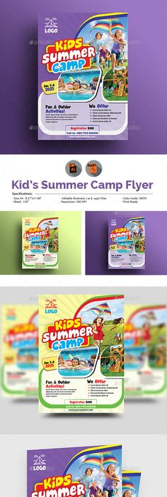 Best Summer Camp Flyer Templates  Free  Premium Templates