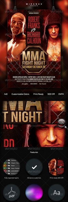 Mma Ufc Boxing Fight Flyer Template Psd By ArtMiranax  Curro