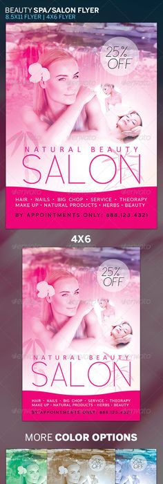 Premium Hair Salon Flyer  Color Print A And Salons