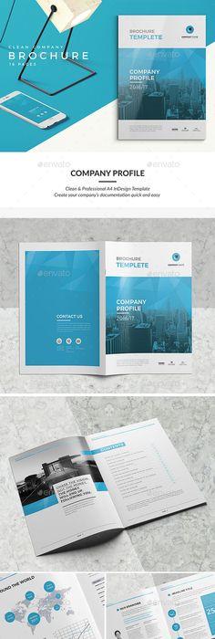 Multipurpose Company Profile   Indesign templates, Company profile ...