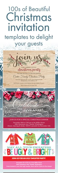 Signs Of The Season Printable Invitation Template Customize Add