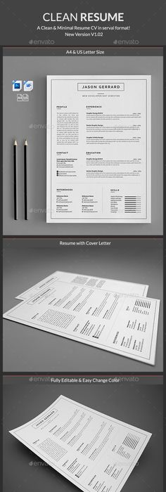 How To Layout A Resume Resume  Pinterest Design Template And Cv Template