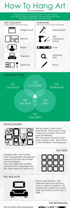 Alternatives to the gallery style 50 amazingly clever cheat sheets to simplify home decorating projects