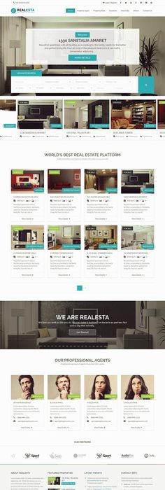 LUXOR Responsive HTML5 Real Estate Template #condos #homes #html5 ...