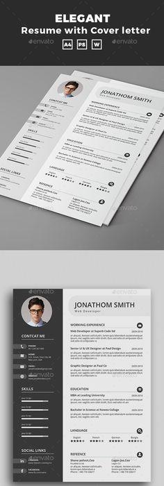 Floral CV template | Modern resume, Floral and Modern