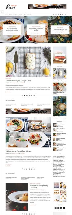 Recipe blog is a perfect responsive wordpress theme for food eva premium wordpress blog magazine theme forumfinder