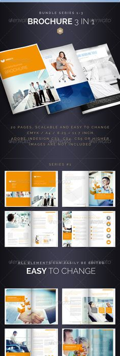 Portfolio Booklet or Catalog Template - 36 Pages | Brochures ...