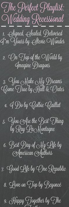 144 Swoon-Worthy Songs For Every Part Of Your Wedding Day | Songs ...