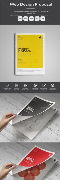 Company Proposal Template d e s i g n Pinterest Proposal