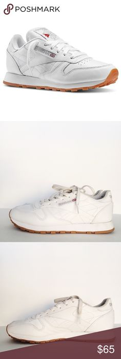I just added this listing on Poshmark: Reebok Classic Leather White Sneakers  w/free