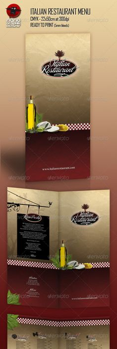 Retro Italian Menu Design Vector Set   Menu