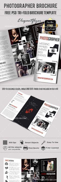 Free Wedding Tri Fold Psd Brochure Template Brochure Template Tri