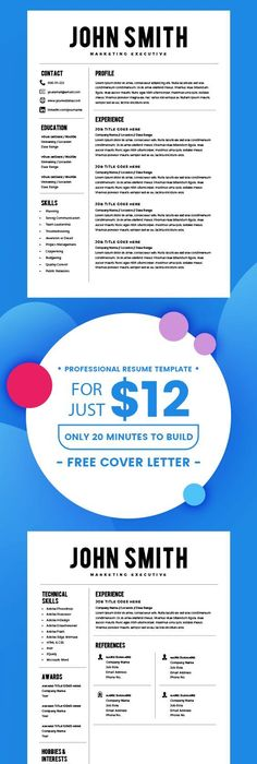 Best Resume Template - CV Template + Cover Letter - MS Word on Mac