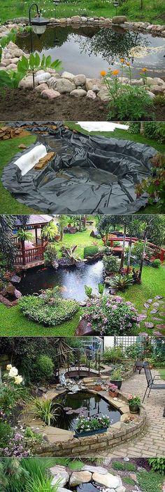 Для дома,дачи и семьи. Outdoor PondsBackyard PondsGarden ...