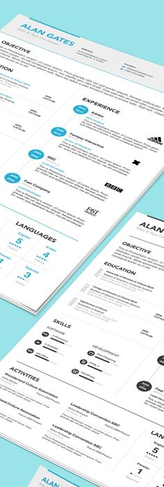 ResumeCv  Resume Cv Cv Template And Ai Illustrator