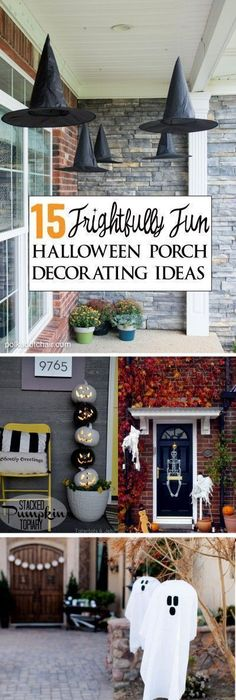 spooky halloween front porch decor diy signs front porches and