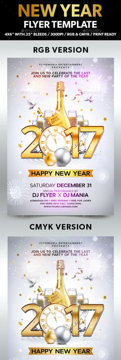 New Year Christmas Party Flyer | Party flyer, Flyer template and ...