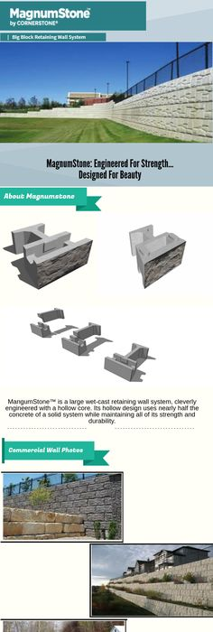 MangumStone™ Is A Large Wet Cast Retaining Wall System, Cleverly Engineered  With A Hollow Core. Its Hollow Design Uses Nearly Half The Concrete Of A  Solid ...