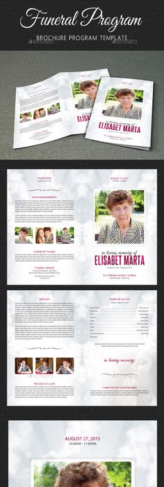 Teen Funeral Program Template | Funeral, Program template and Template