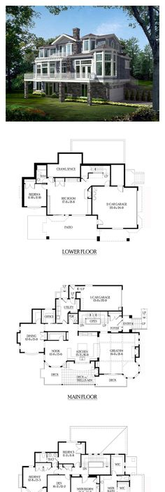 A Frame Contemporary Log House Plan 61105 Logs Bedrooms