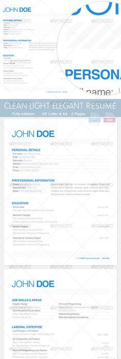 Retro Resume Template, Resume cv and Cv template