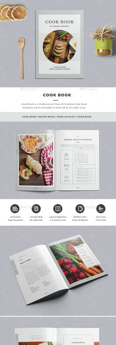 Cookbook Template   Free Psd Eps Indesign Word Pdf Format