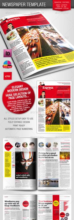 Newspaper 24 Pages Print Templates Newspaper And Template