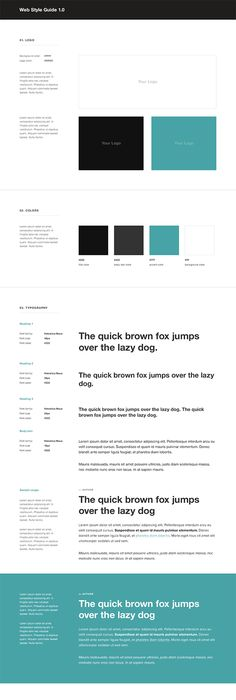 Guide Templates 10 Inspiring Examples Of Ui Style Guides  Wireframe Brand Identity .