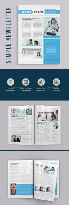 GraphicRiver Newsletter vol 10 Indesign Template 5026752 | Design ...