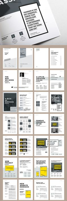 Creative Annual Report Brochure Template Design Layouts - Keynote brochure template