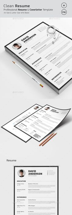 Word Resume  Cover Letter Resume cover letters, Business resume