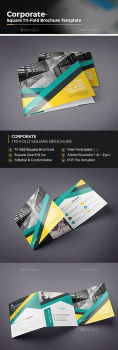 Corporate Tri Fold Square Brochure Tri Fold Brochures And Ai