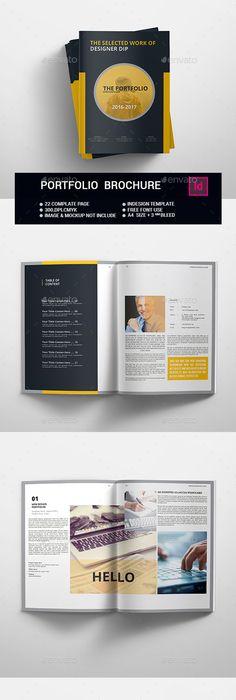 Mark - Portfolio Template | Brochure template, Brochures and Template