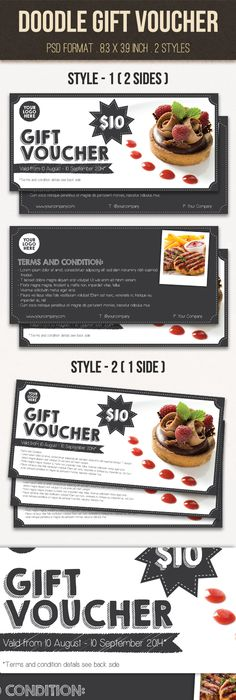 Gift Voucher    Coupons Template And Logos