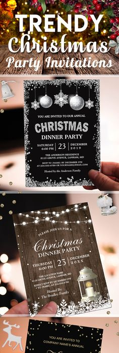 FIRST SNOW HOLIDAY PARTY INVITATION Click on photo to purchase
