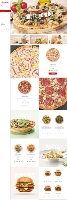 Pizzaro - Food Online Ordering eCommerce PSD | Psd templates ...