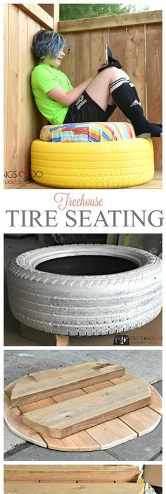 Do it yourself tire table and ottoman tire table tired and ottomans tire project treehouse seating solutioingenieria Choice Image
