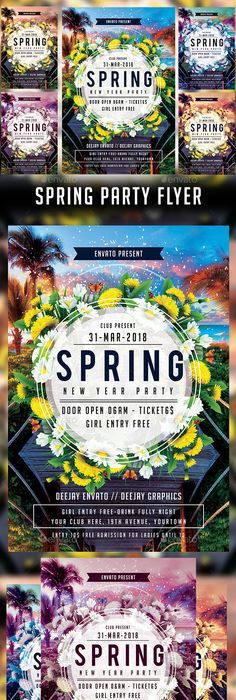 Spring Flyer   Templates  Template Flyer Template And Spring