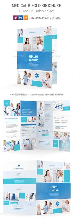 Health Medical Care  Bifold Brochure Template  Brochure Template