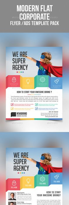 Free Corporate Flyer Flat Design  Graphic Design