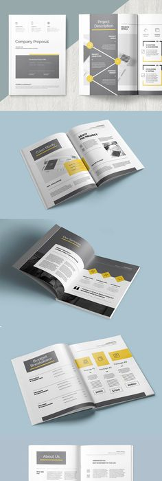 Clean Proposal Template Indesign Indd   Pages Two Different