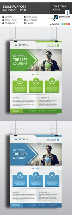 Business And Corporate Flyer Template Psd  Flyer Templates