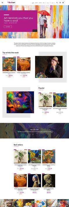 Cosmetics Online Store Prestashop Template Themes Business - Online art gallery website template