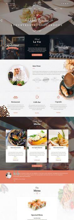 European Restaurant Moto CMS HTML Template | Template, Restaurants ...