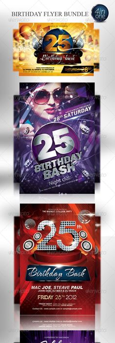 Birthday Flyer Template Vol2 Flyer template, Template and Birthdays