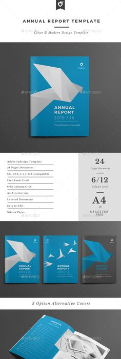 Creative Business Indesign Annual Report Template  Annual Report